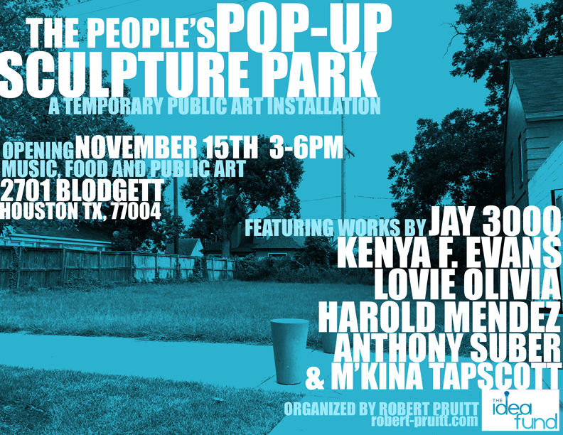 Pop Up Sculpture Park | Robert A. Pruitt | Round 6 (2014) | The Idea Fund